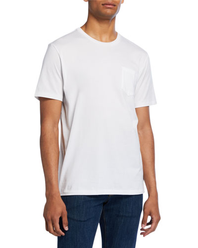 Men's Washed Cotton Pocket T-Shirt  White
