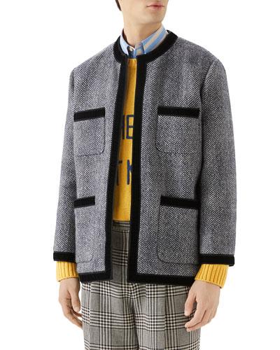 Men's Herringbone Tweed Jacket