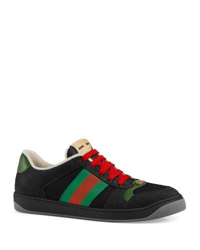 9d55e473e13 Men s Screener Low-Top Lace-Up Sneakers Quick Look. Gucci