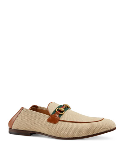 Men's Brixton Canvas & Leather Loafers