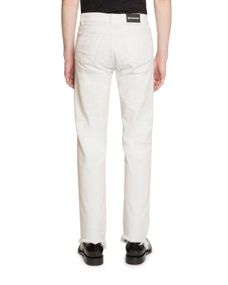 Men's Fitted 5-Pocket Stretch-Denim Jeans