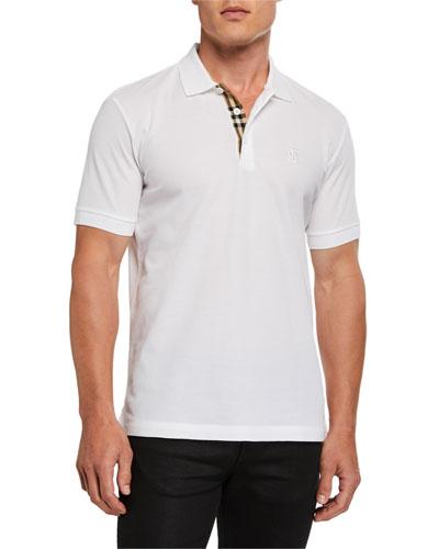 Men's Eddie Pique Polo Shirt  White