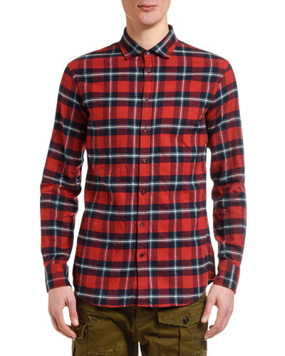Men's Plaid Flannel Sport Shirt