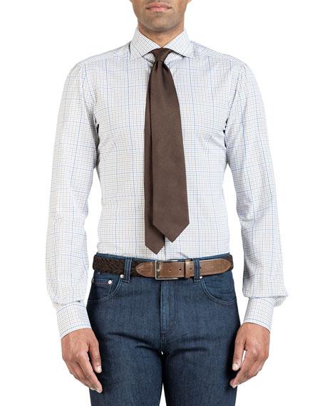 Men's Two-Tone Check Dress Shirt
