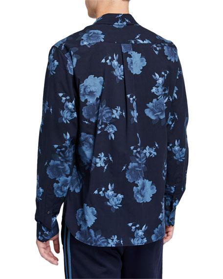 Men's Floral-Print  Classic-Fit Sport Shirt