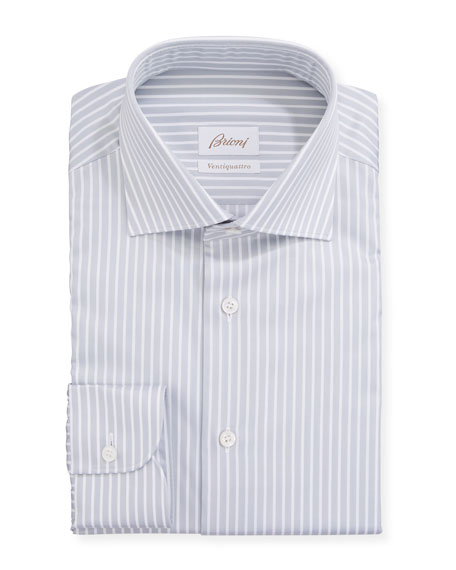 Men's Ventiquattro Striped Dress Shirt