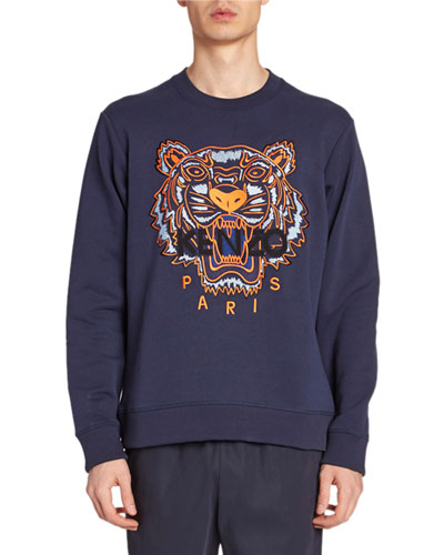 Men's Tiger-Embroidered Sweatshirt