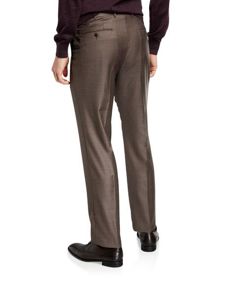 Men's Trofeo Wool Flat-Front Trousers