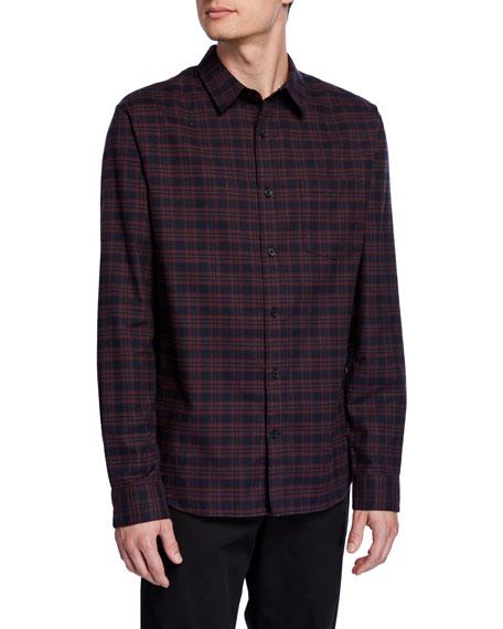 Men's Brushed Shadow Plaid Sport Shirt