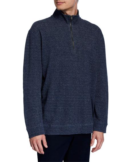 Men's Quater-Zip Cotton Sweater