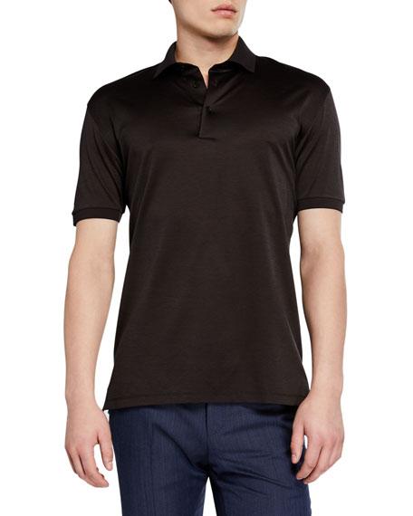 Men's Pique Polo Shirt, Dark Brown