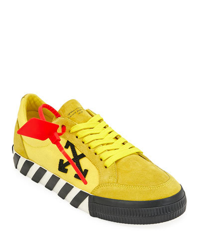 Men's Arrow Suede Sneakers with Stripes
