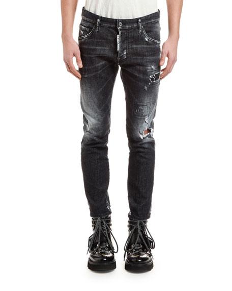 Men's Distressed Skater Jeans