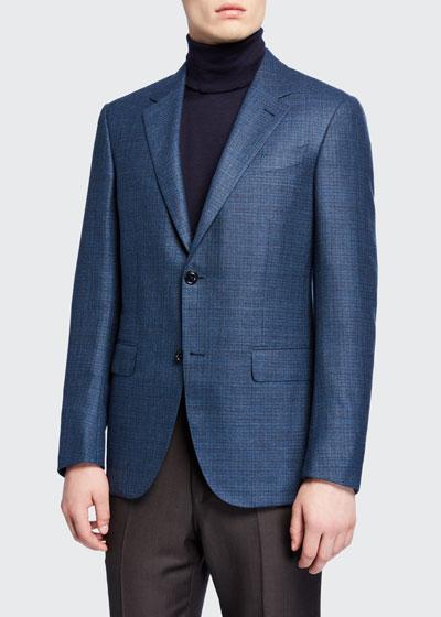 Men's Textured Wool Regular-Fit Blazer