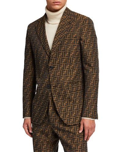 1456c2ade1b Men's FF Jacquard Two-Button Jacket