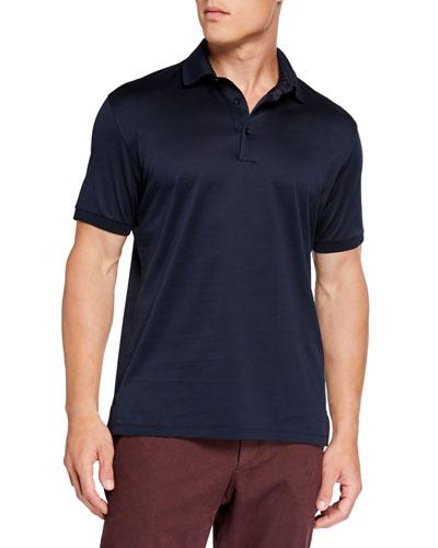 Men's Pique Polo Shirt  Navy