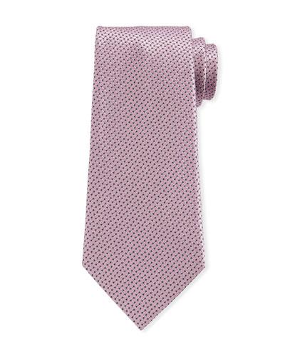 Men's Chain Links Silk Tie  Pink