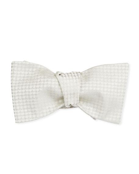 Men's Textured Silk Self-Tie Bow Tie