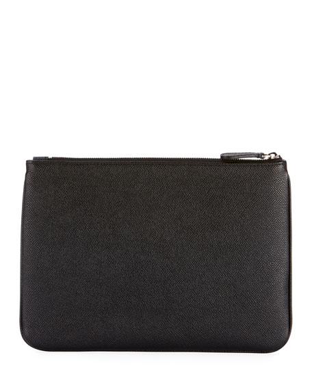 Men's Ville Leather Logo Pouch Bag