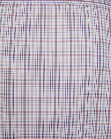 Men's Cento Quaranta Plaid Sport Shirt, Pink Pattern