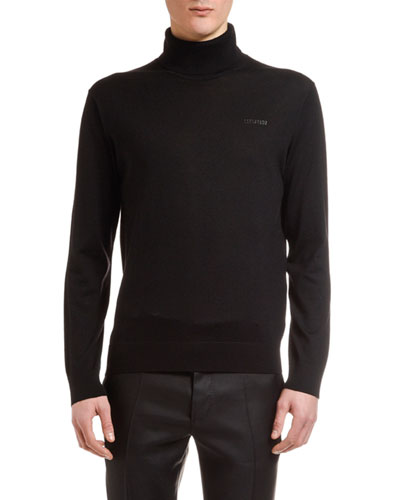 Men's Wool Turtleneck Sweater
