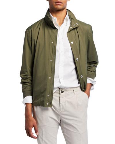 Men's Nylon Bomber Jacket