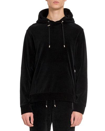 Men's Velvet Side-Zip Hoodie