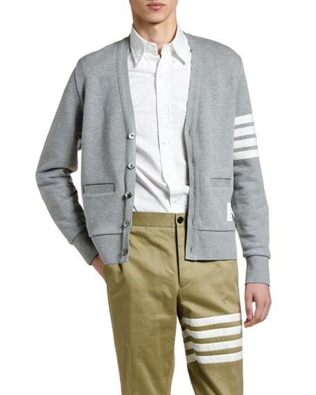 Men's Four-Stripe Cotton Cardigan