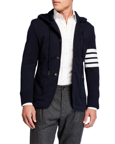 Men's Hooded Three-Button Jacket