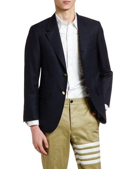 Men's Wool Three-Button Jacket