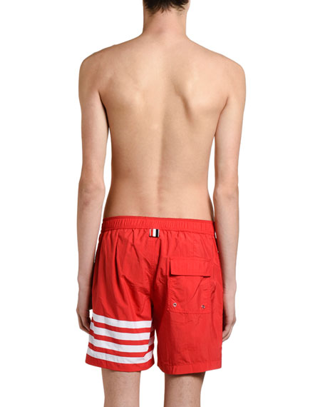 Men's Four-Stripe Swim Trunks