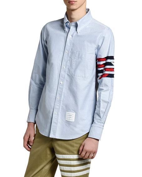 Men's 4-Bar Detail Oxford Shirt
