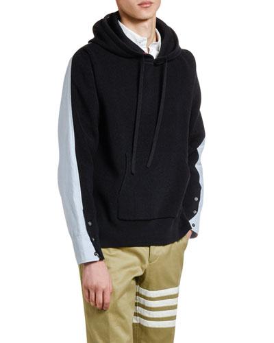 Men's Half/Half Pullover Hoodie