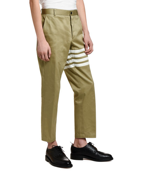 Men's Unconstructed Ankle Chino Trousers