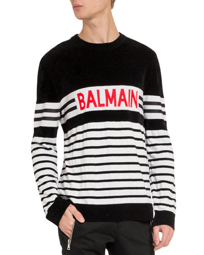 Men's Logo Stripe Sweater