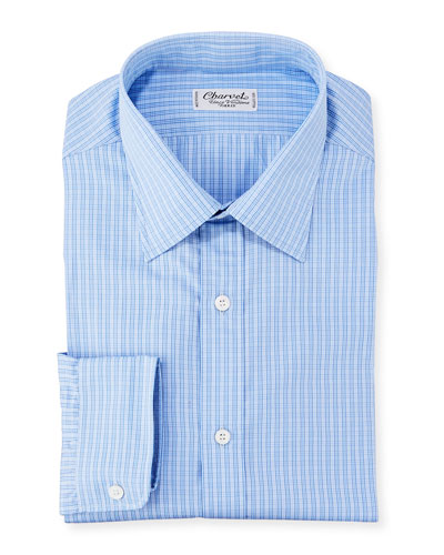 Men's Check Poplin Dress Shirt