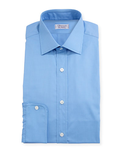 Men's Slim Darted Mini-Check Dress Shirt