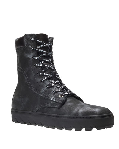 Men's x Vic Mensa 1000 Mile Tall Combat Sneakers  Anthracite