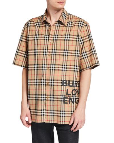 Men's Sandor Check Short-Sleeve Shirt