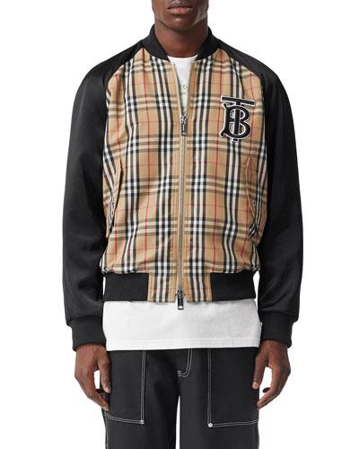 Men's Check Varsity Jacket