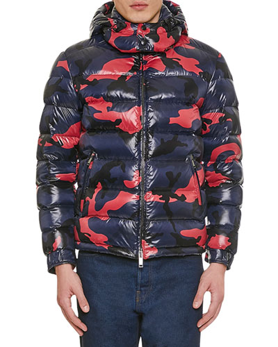 Men's Camo Quilted Puffer Jacket