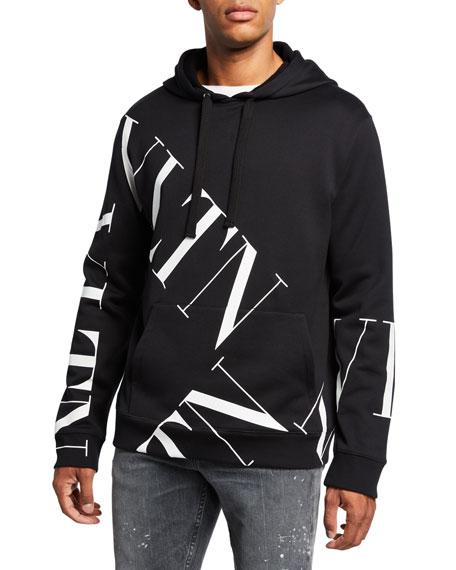 0e6552e454 Valentino Men's VLTN Logo Hoodie Sweatshirt