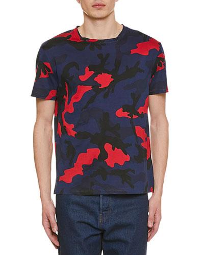 Men's Camo-Print Crewneck T-Shirt