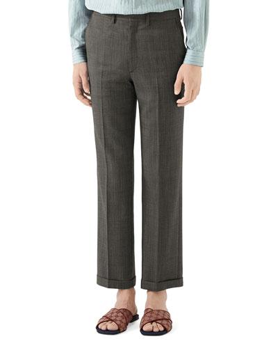 Men's Wool Pindot Trousers