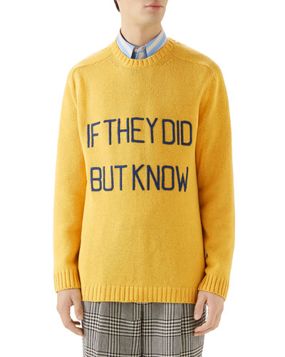 Men's If They Did But Know Sweater