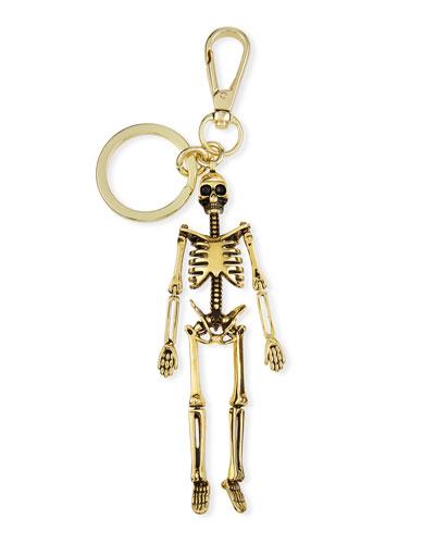 Men's Skeleton Key Ring  Golden