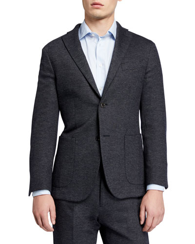 Men's Heathered Jersey Two-Piece Suit
