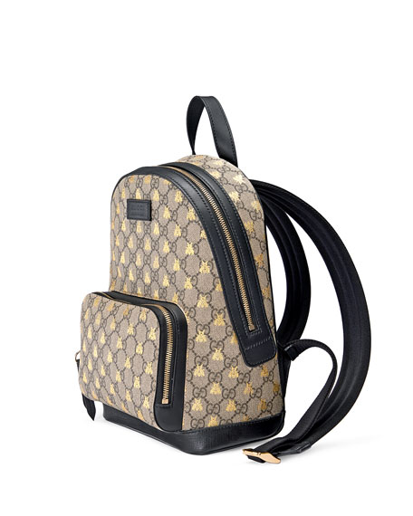 Men's GG Supreme Bee-Print Backpack