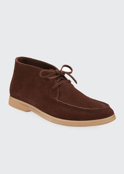 Men's Suede Mid-Top Desert Chukka Boots