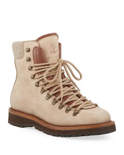Men's Suede Hiker Boots